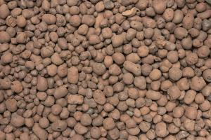 red clay balls used for seeds in no-till agriculture