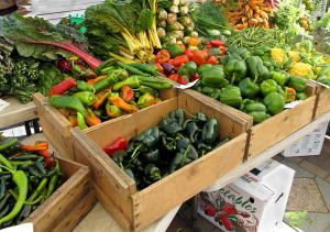 variety of local produce at farmers' market