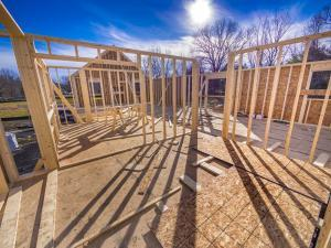 timber framing for straw bale home