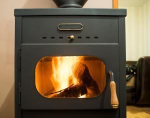 Wood stove for alternative hot water heating