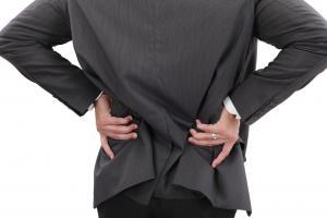 businessman with lower back pain