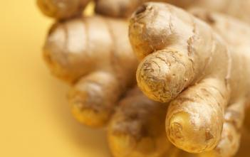 closeup of ginger root