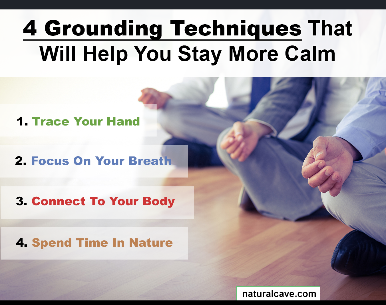 grounding techniques infographic