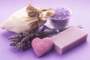 lavender soap and fresh lavender