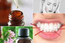 Essential oils for teeth grinding