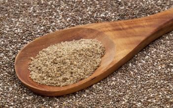 chia seed powder (grounded + raw chia seeds)